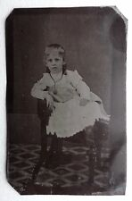 FERROTYPE PHOTO PORTRAIT ENFANT FILLE O928