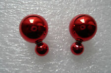 ZARA BLOGGERS 16 MM  DOUBLE SIDED SHINY RED PEARL STUDS CAN BE WORN EACH SIDE