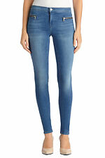 New $238 J BRAND 8024 EMMA SOLAR STONE EXPOSED ZIPPER SUPER SKINNY JEANS 26