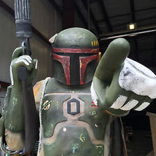 Life Size Boba bounty  Hunter Statue Darth C3po R2D2  Similar to Boba Fett Star