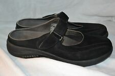 Black Leather Merrell TOPO CLUTCH Slip On Mules Loafers  sz.9.5