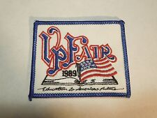 "1989 VP Fair Veiled Prophet Fair ""Education is America's Future Teacher Patch"