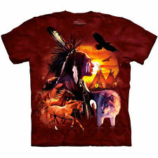 Native American Indian Horse Wolf Eagle Teepee T Shirt The Mountain Tee Medium