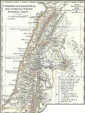 GEOGRAPHY MAP ILLUSTRATED ANTIQUE SPRUNER PALESTINE 70AD POSTER PRINT BB4484A