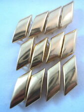 "12 Gold Tone Plain Diagonal Studs Clothing Decoration 7/8"" Leather Work"