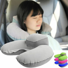 NEW Inflatable Travel Pillow Air Cushion Neck Rest U-Shape Compact Plane Flight