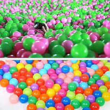 100XMulti-Color Cute Kids Soft Play Balls Toy for Ball Pit Swim Pit Ball PoolPE
