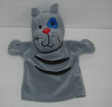 2001 Cinar Plush Caillou Gilbert Cat Puppet - Grey Cat w/Whiskers Hand Puppet