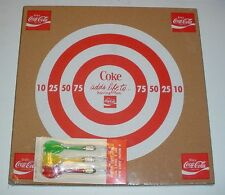 Vintage Coke Cork Dart Board w/ Darts Coca-Cola Promotional Advertising Soda