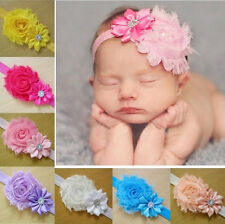 10pcs Girls Kids BabiesToddler Infant Flower Headband Hair Bow Band Accessories