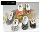 Snoozies Couture Slippers Women Girl House Shoes No Skid Machine Washable 5 6