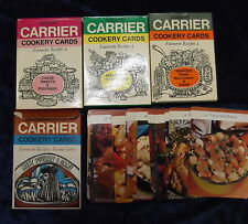 4 DELICIOUS SETS OF ROBERT CARRIER COOKERY CARDS **UK POST £3.25**