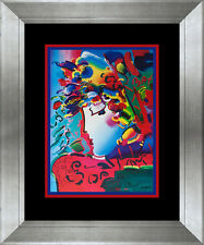 Peter Max Lithograph and original sketch Hand signed and dated Lot 476