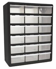 18 Drawer Large Plastic Parts Bin Toy Storage Organizer Cabinet Garage Bedroom