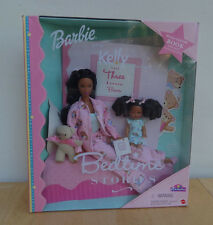 2000 AA BARBIE AND KELLY BEDTIME STORIES African American Black with Book CUTE!!