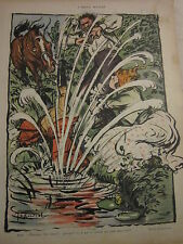 Caricature 1904 - L'Amour Mouillé par Jeanniot