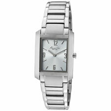KENNETH COLE NY CLASSIC ANALOG SLIM BLUE DIAL ST. STEEL LADIES WATCH KC4584 NEW