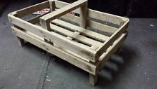 FRENCH GENUINE WOODEN POTATO PANNIER/ TRUG VEGETABLE BASKET DISPLAY CASE CRATE