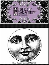 New Paper Parachute cling RUBBER STAMP  MAN IN THE MOON Free USA ship