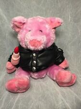 Lip Stick On A PIG - BLACK LEATHER JACKET Motorcycle BIKER PLUSH - Dan Dee Pig