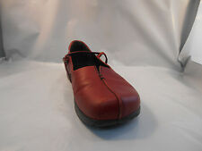 Kalso Earth Red Leather Mary Jane Shoes w/ Negative Heel Women's Sz 7.5 M