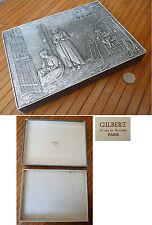 Boite à bonbons GILBERT en carton argenté vers 1900 Jozef Israels NA DEN STORM