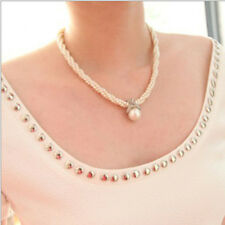 Fashion Women Pendant Chain Choker Pearl Beabs Necklace Jewelry Best Brand New