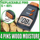 Risepro 4-Pin Holzfeuchtemessgerät Feuchtemesser Holz Messgerät 2 Austauschbaren