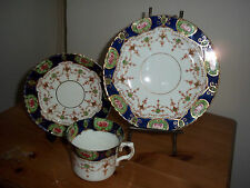 Antique Windsor bone china trio, cup, saucer and side plate, used.
