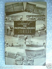 1938/39 southport v accrington stanley football league jubilee match-très rare