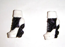 Monster High Doll Sized Black/White Shoes/Heels For Monster High Dolls mh124