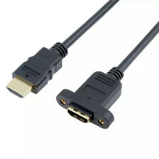 0.5M HDMI male to female connection device extension cord with screw cable