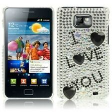 Hülle f Samsung GALAXY S2 i9105 plus + STRASS CASE SCHUTZ COVER TASCHE LOVE