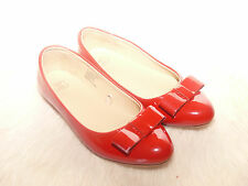 Janie and Jack FOREVER ROSE Red Patent Leather Ballet Flat Shoes 12