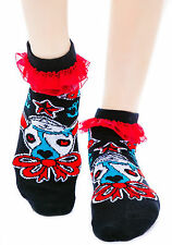 TOO FAST GOTHIC PUNK AHOY ANKLE EMO TATTOO PSYCHoBILLY GOTH ROCKABILLY SOCKS