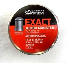 JSB EXACT .22 CALIBER JUMBO MONSTER / 5.5 MM PELLETS 25.39 GR, 200 PCS