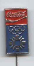 Orig.PIN    Olympische W.Spiele  SARAJEVO 1984  -  OFF. LOGO + Sponsor Coca Cola