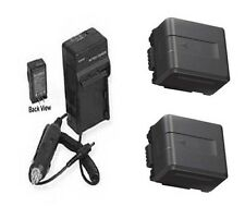 TWO 2X Batteries + Charger for Panasonic HDC-TM900K HDC-TM900P HDC-HS900PC