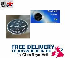 Eunicell 3V CR1616 BR DL ECR Lithium Button Cell battery, Car Key Fob Remote UK