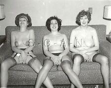 Org Vintage 40-60s Nude RP- Women- Super Endowed Mature Lady- Garter- No Panties