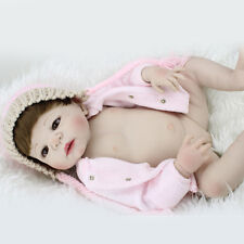 22'Newborn Reborn Baby Doll Full Body Silicone Lifelike Girl Doll Alive Preemie