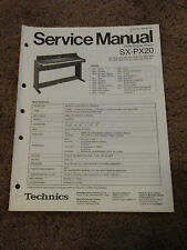 Technics PCM Digital Piano SX-PX20 Service Repair Shop Manual Wiring SX PX 20