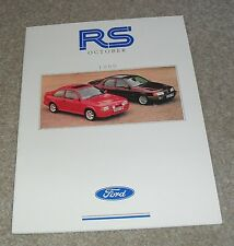 Ford RS Brochure October 1989 - Escort RS Turbo Sierra RS Cosworth