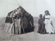 1925 Arab FELLAHIN Fellah MARRIAGE HUT Sepia Photogravure Art Print