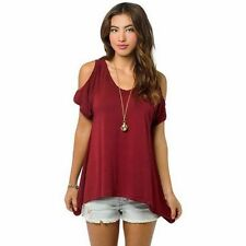 Fashion Womens Summer Loose Top Short Sleeve Blouse Ladies Casual Tops T-Shirt