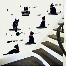 Removable Art Vinyl Quote DIY Wall Sticker Decal Mural Home Room Decor Cat Cute