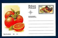 SOUTH AFRICA - SUD AFRICA - RSA - 1982 - Cart. Post. - Frutta locale: Arance