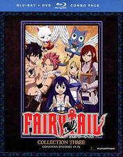 Fairy Tail: Collection 3 Anime (Blu-ray/DVD, 2015, 2-Disc Set) Episodes 49-72