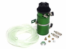 VMS ALUMINUM OIL RESERVOIR CATCH CAN TANK WITH BREATHER FILTER BAFFLED GREEN