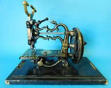 Antique English James Weirs Patent 55s Sewing Machine Complete in Box 1870s